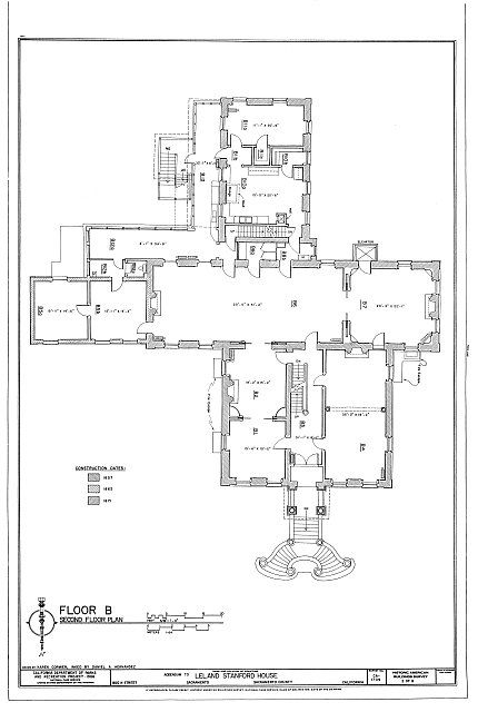 Habs Cal 34 Sac 9 Sheet 2 Of 8 Leland Stanford House 800 N Street Sacramento Sacramento County Ca Sacramento County Old Mansions Architecture Drawing