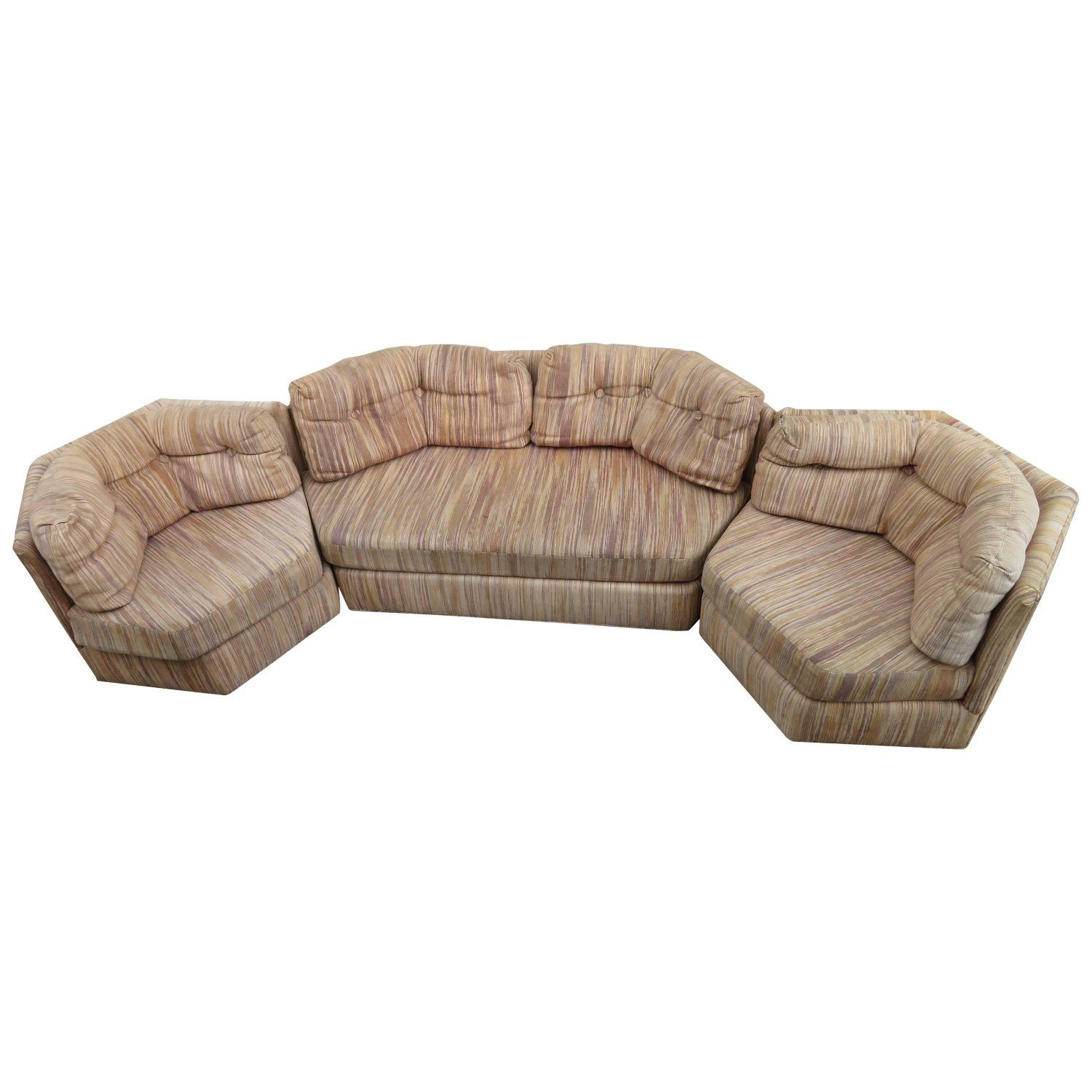 Surprising Fantastic Milo Baughman Four Piece Octagon Sofa Sectional Inzonedesignstudio Interior Chair Design Inzonedesignstudiocom