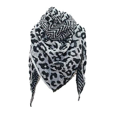 35695c55077 Foulard Echarpes et foulards Echarpe triangle femme imprimé léopard Écharpe  chaude châle by LHWY (noir)