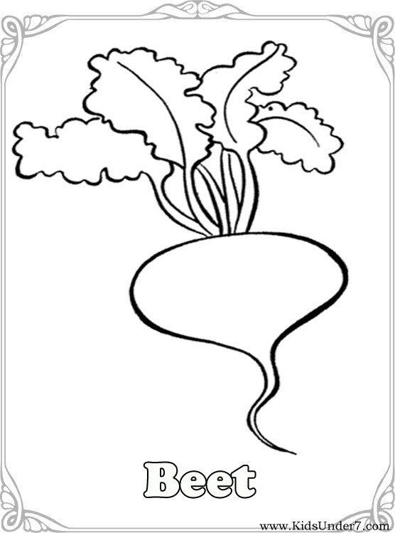 vegetable coloring pages kids under 7 vegetables