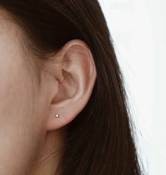 Minis Circles Studs Gold Silver Earrings Mixed Metals Yellow Gold 10k Silver Backings- Rose Gold 10k Silver Backings Minimalist