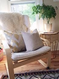 Image Result For Sheepskin Rug On Poang Ikea Poang Chair Living