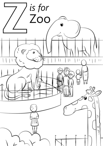 Letter Z Is For Zoo Coloring Page From Letter Z Category Select From 26388 Printable Cra Zoo Coloring Pages Zoo Animal Coloring Pages Preschool Coloring Pages