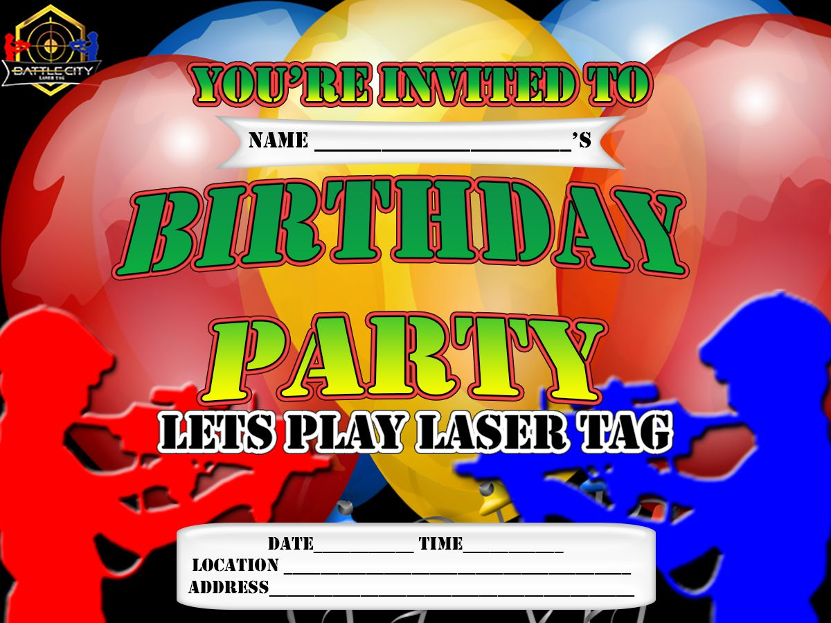 Laser tag birthday party invitation printable free laser tag laser tag birthday party invitation printable free filmwisefo Images