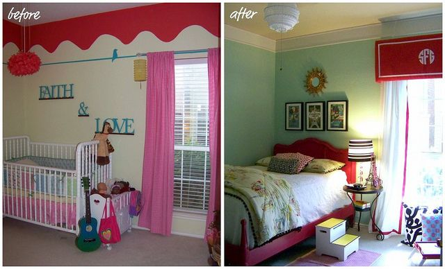 before and after (Little girl's bedroom) by hi sugarplum!, via Flickr