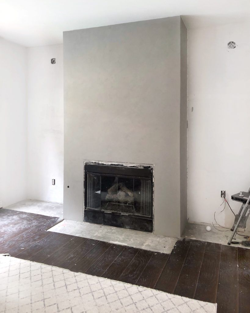 Diy A Cement Look Fireplace For Less Than 100 With Images