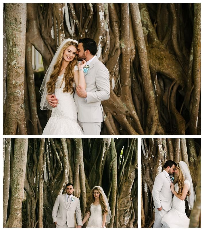 Bride And Groom In Bamboo Forest In Hawaii