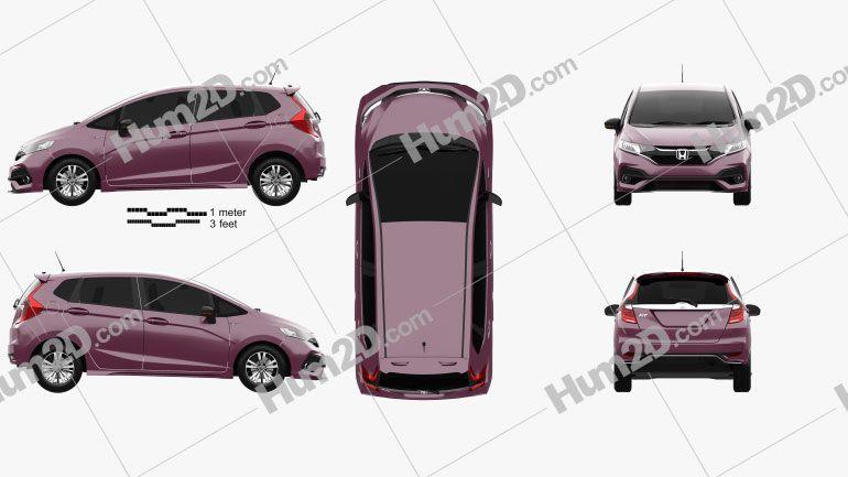 Honda Fit Hybrid S Jp Spec 2017 Clipart In 2020 Honda Fit Hybrid Honda Fit Clip Art