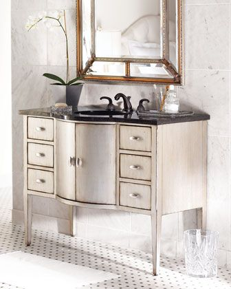 Ambella Silver-Finished Chest with Sink - Horchow ...