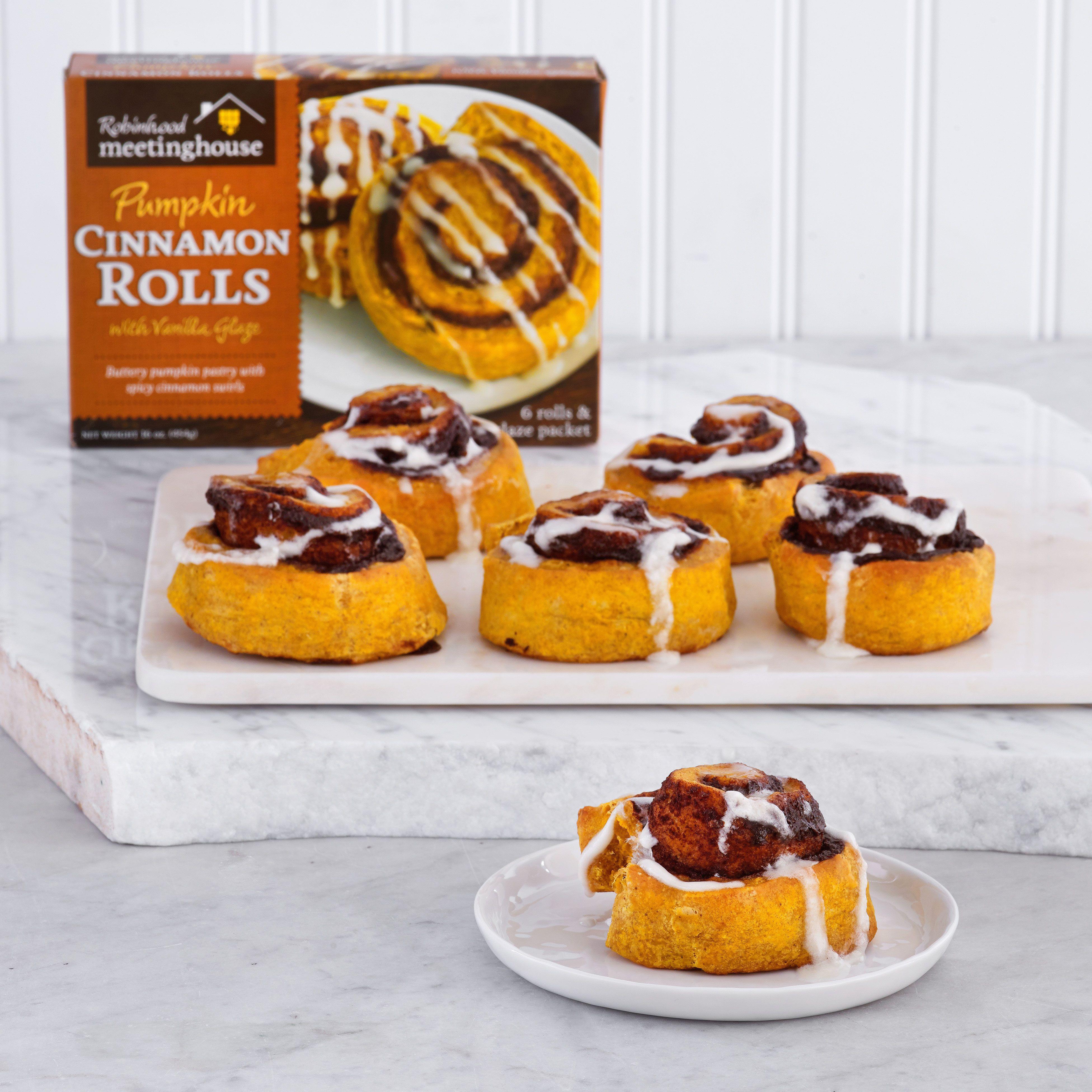 Pumpkin Cinnamon Rolls Robinhood Meetinghouse / Dean