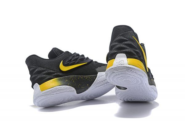763c577fa339 2018 Nike Kyrie 4 Low Black Yellow Basketball Shoes On Sale-3
