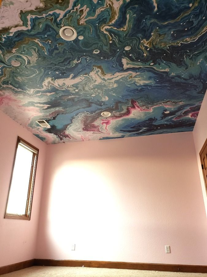 Peel Stick Wallpaper On The Ceiling Eclectic Twist Wallpaper Ceiling Ceiling Murals Peel And Stick Wallpaper