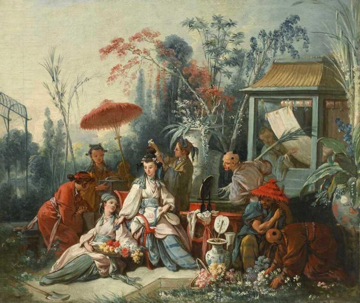 Chinese Garden by François Boucher, 1742 | ~ A R T ~ | Pinterest