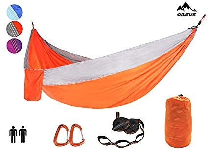 Oileus X Large Double Camping Hammock Lightweight Nylon Portable