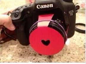 To get heart shaped photos