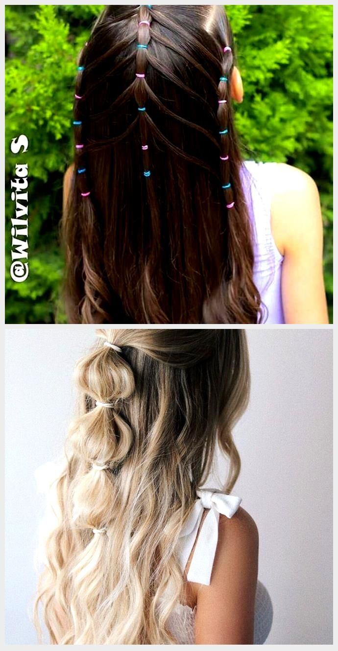 14 Quick and Easy Hairstyles for School / Small Girls  ...