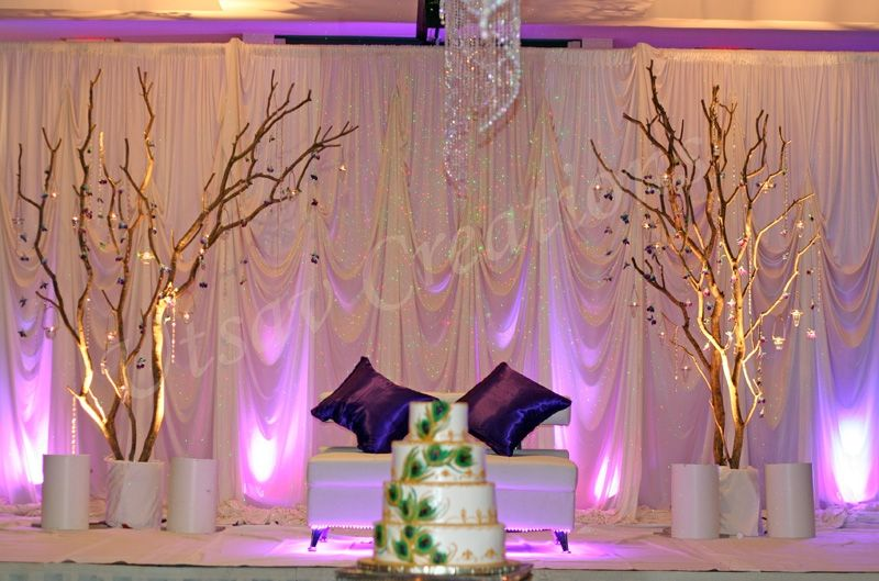 Wedding stage decorations stage decor 1 backdrop for Background stage decoration