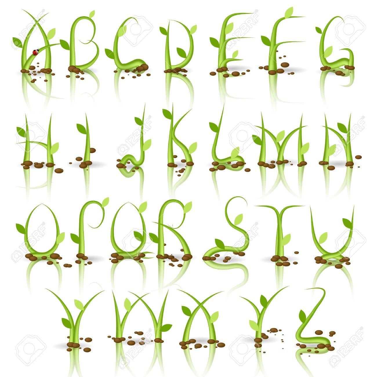 Image result for nature font alphabet | cods | Pinterest | Grasses ...