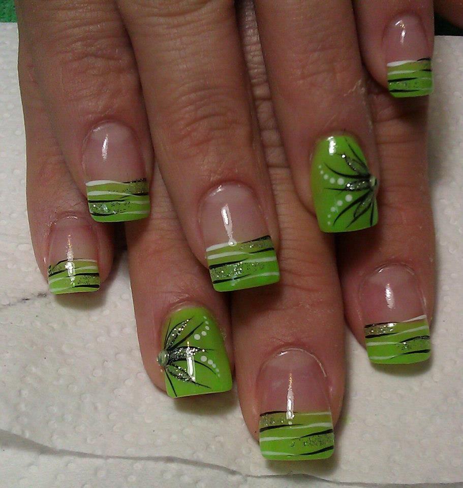 green, black, and white.... | Nails | Pinterest | Black, Nail nail ...