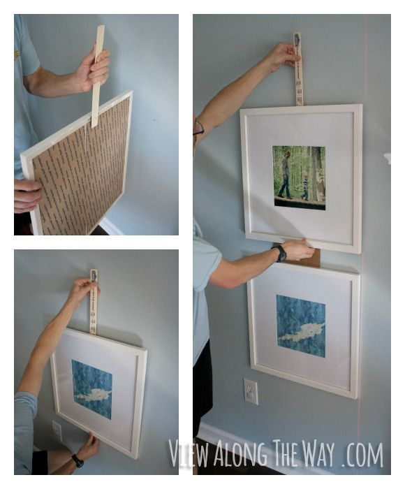 DIY picture frame wall - oversized picture frames in a collage!   I ...
