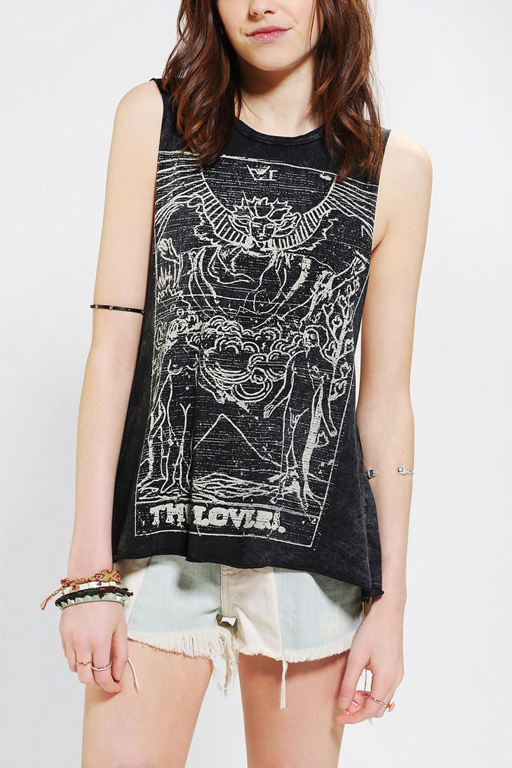 DOE Tarot Lovers Muscle Tee // pinned by @dressmeSue