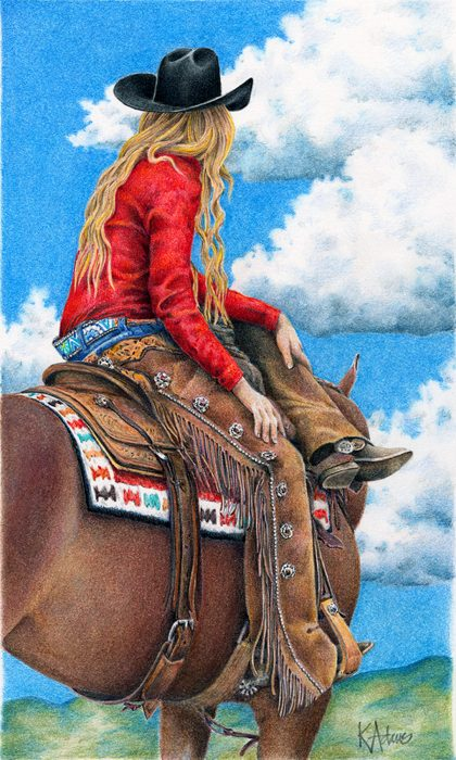 Red White And Blue Western Art Paintings Cowgirl Art Cowboy Art