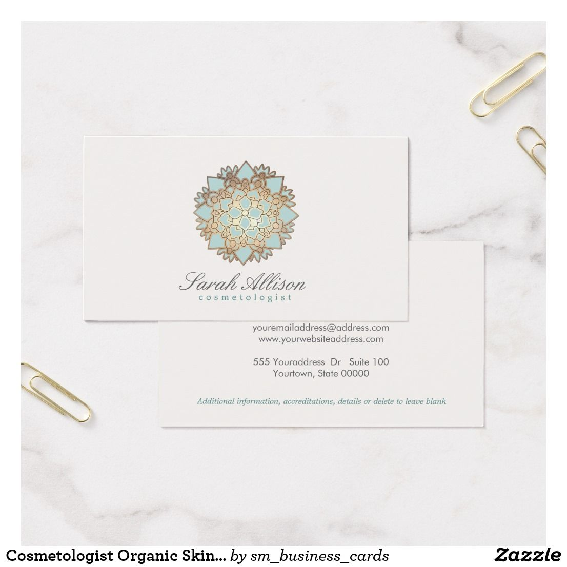Cosmetologist Organic Skincare Spa and Salon Logo Business Card ...