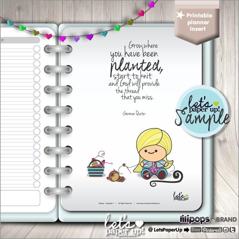 Printable Planner Dividers, Printable Pages, Planner Quotes, Erin Condren, Planner Insert, Planner Dashboard, Kawaii Planner, Divider Kawaii