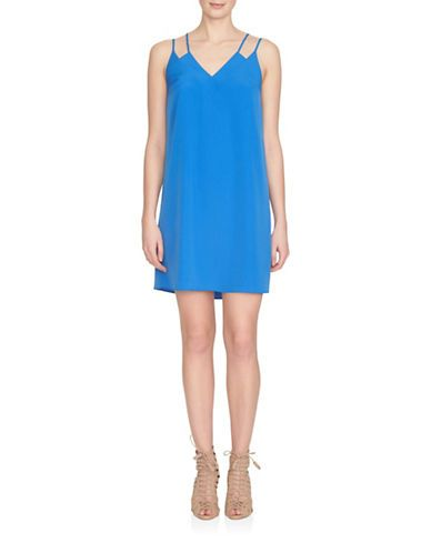 Cece Sweeny Double Strap Slip Dress Women's Blue Lotus 4