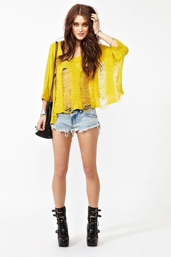 Wish it was in a different color...but definitely AWESOME!!! http://www.nastygal.com/collections%5Feasy%2Dbreezy/slashed%2Dknit