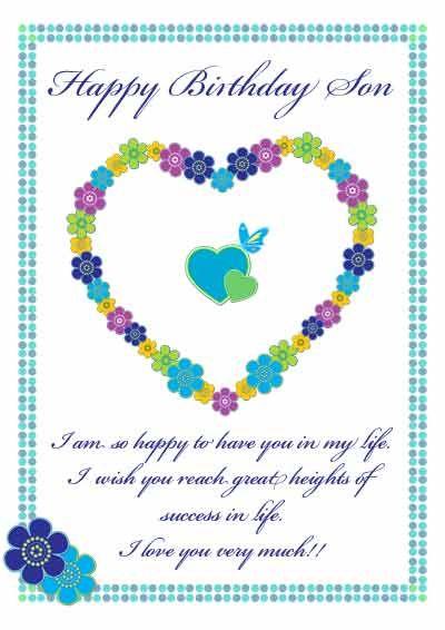 Printable Birthday Cards For Son : printable, birthday, cards, Printable, Cards, Every, Occasion, Happy, Birthday, Printable,