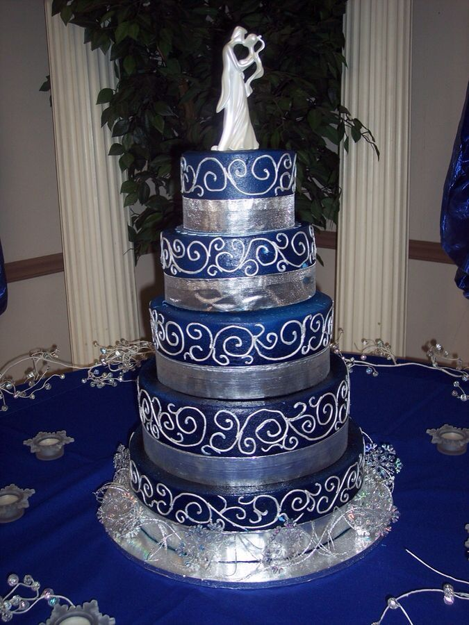 silver and royal blue wedding cakes royal blue and silver wedding images wedding 19853