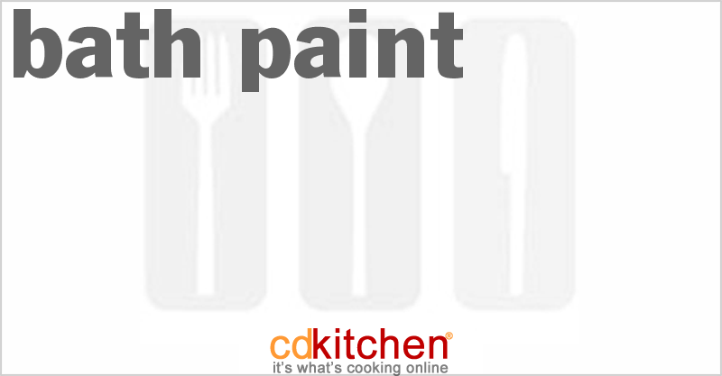 Made with liquid soap, food coloring | CDKitchen.com