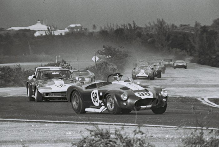 Ken Miles Leading At Nassau In 1964 Ford Mustang Cobra Shelby