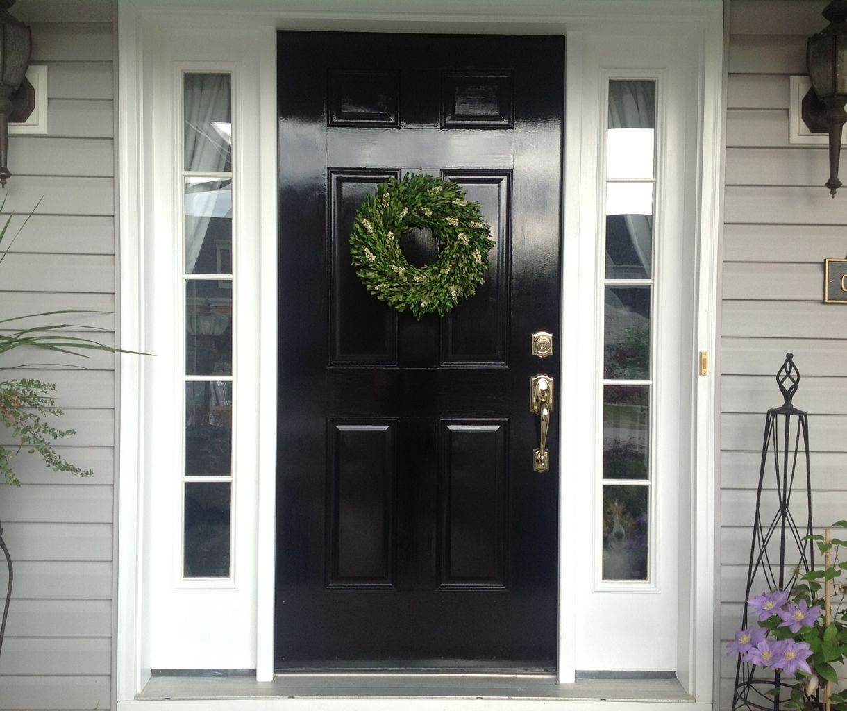 Diy Lessons Learned Painting My Front Door Black Painted Front