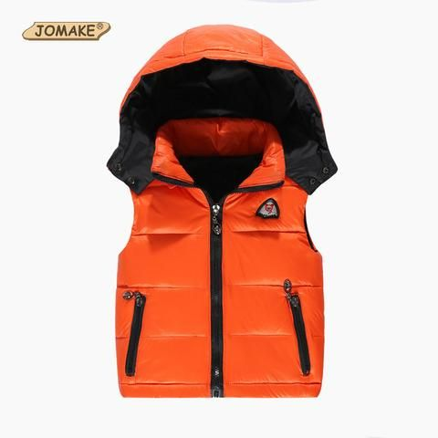 a8dda54345f Kids Vest Girl Boy Winter Warm Thicken Vests Baby Duck Down Coat Waistcoat  Zipper Hooded Jackets For Girls Boys Children Coats