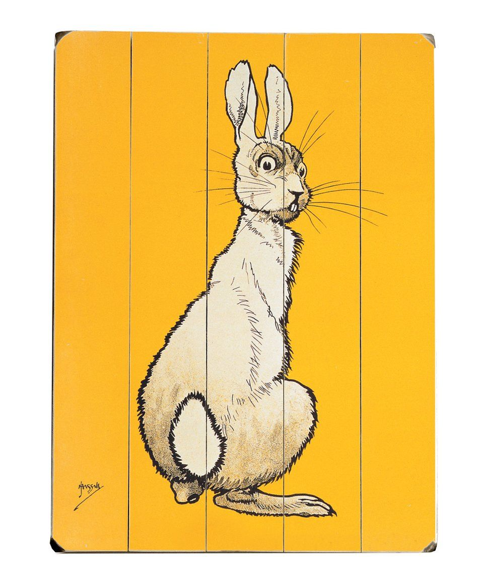 Take a look at this Yellow Bunny Wall Art today!   Art   Pinterest