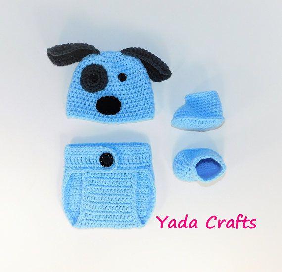 Niño de ganchillo recién nacido niña sombrero de cachorro d0a6714bc62