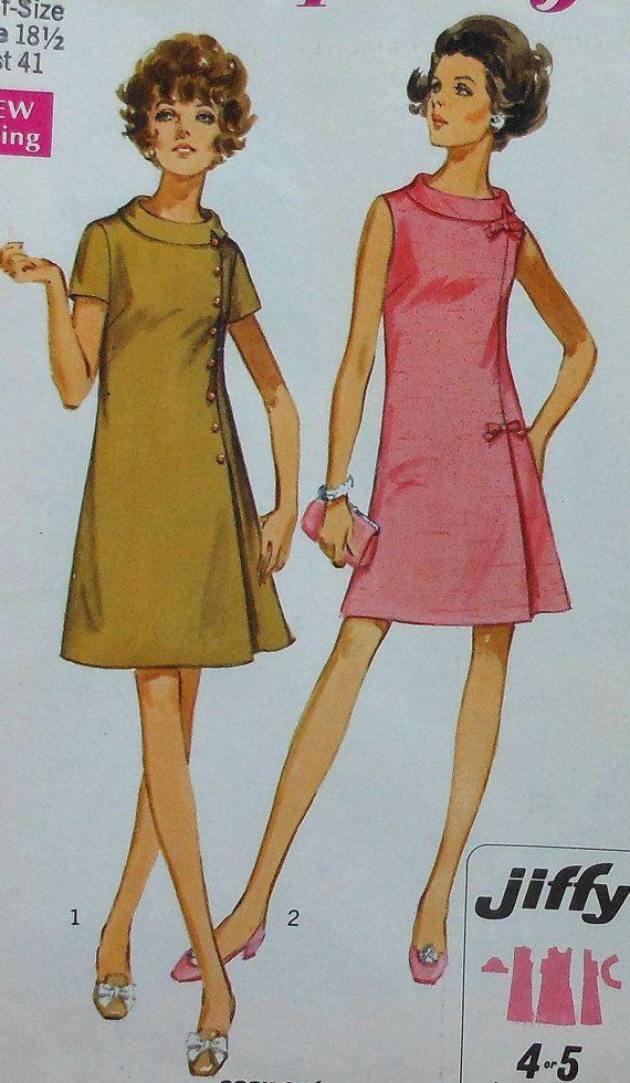 Vintage Size 8159 18 Half Dress Pattern Uncut 12 Sewing Simplicity f6Ygbv7y
