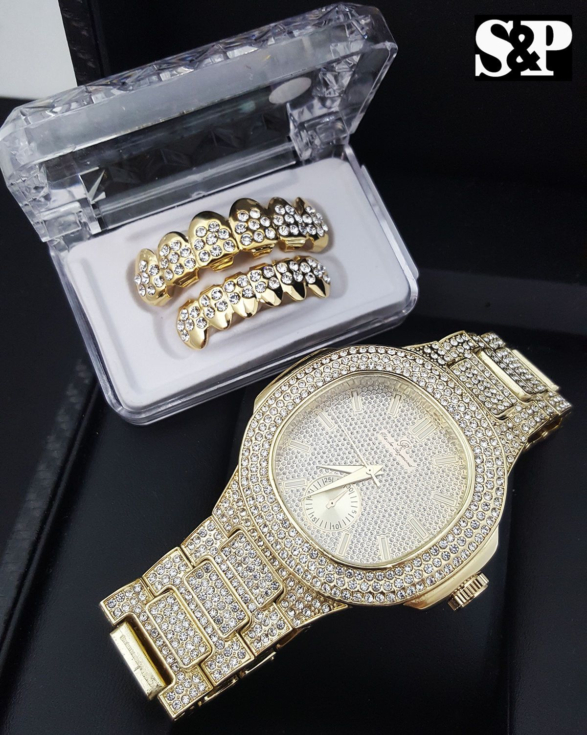 Awesome awesome men hip hop iced out lab diamond watch u iced out