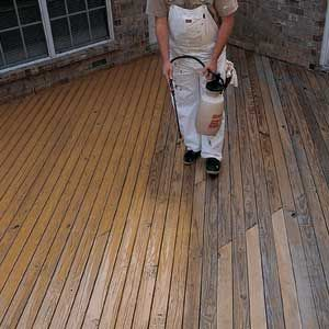Go From An Old Deck To New In 4 Steps Staining Deck Deck Paint Deck Repair