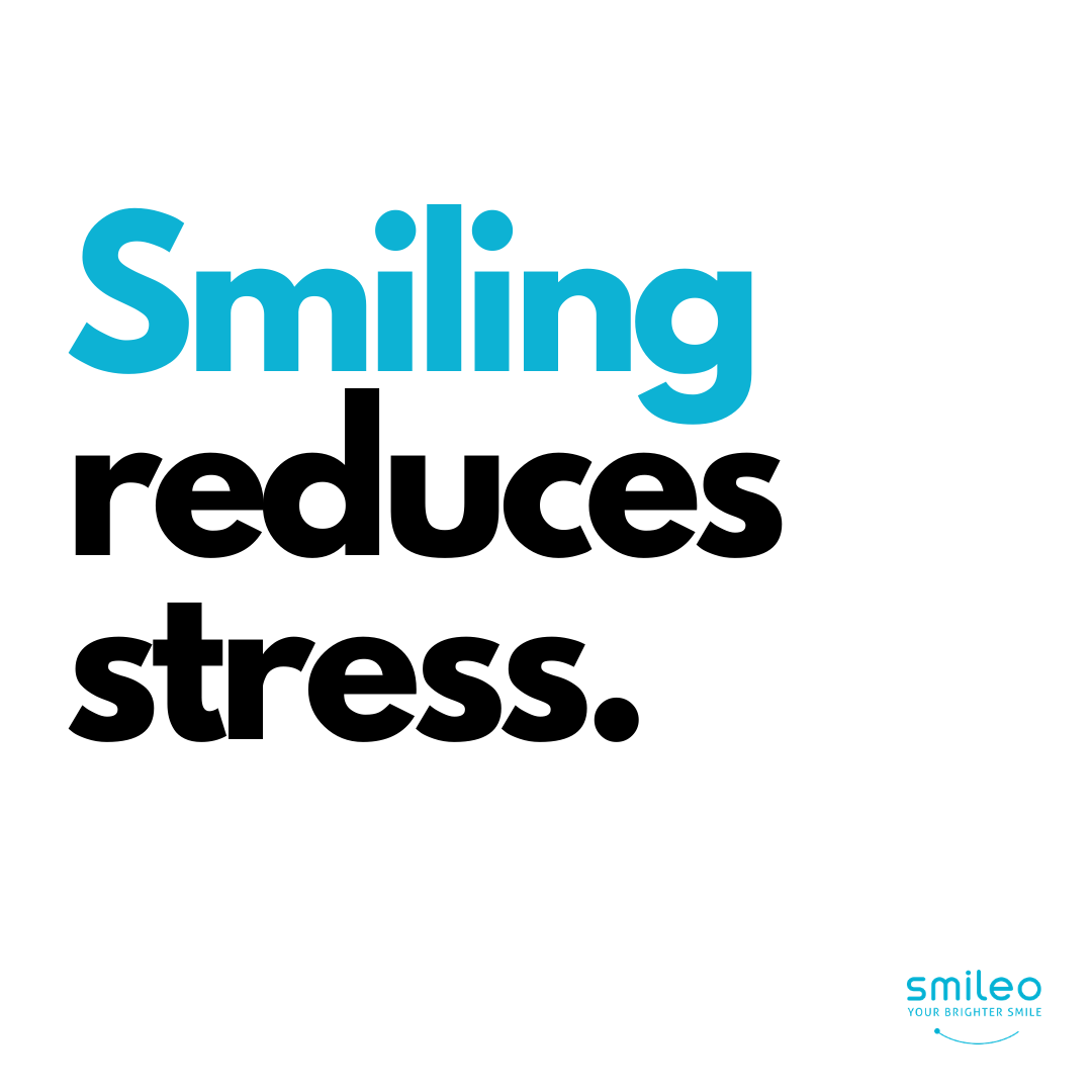 Did you know that Smiling can actually reduce stress? #Brighterteeth #smileo #TeethWhitening #OralCare #Beauty #BeautyProducts #NaturalProducts #AllNatural #AtHomeWhitening #BrighterSmile #VeganProduct #OralCosmetics #CrueltyFree #CrueltyFreeBeauty #CrueltyFreeCosmetics #OralCareRoutineBeautyProducts #facts #smilingfacts #smilingreducesstress