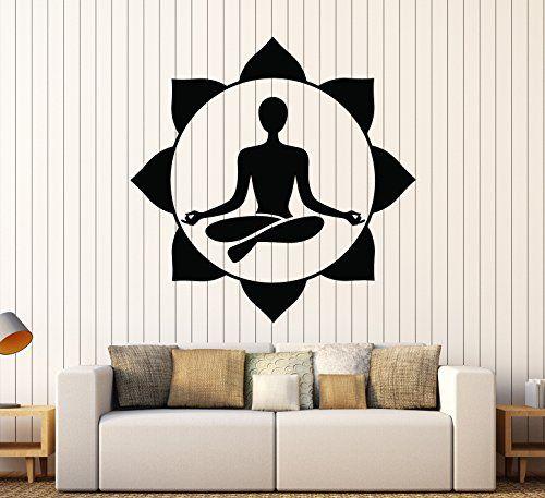 Vinyl Wall Decal Yoga Center Meditation Room Buddhist Stickers - Zen wall decalsvinyl wall decal yin yang yoga zen meditation bedroom decor