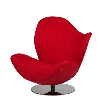 Fauteuil Pivotant Wave Le Rouge En Version Design Fauteuil - Fauteuil rouge design