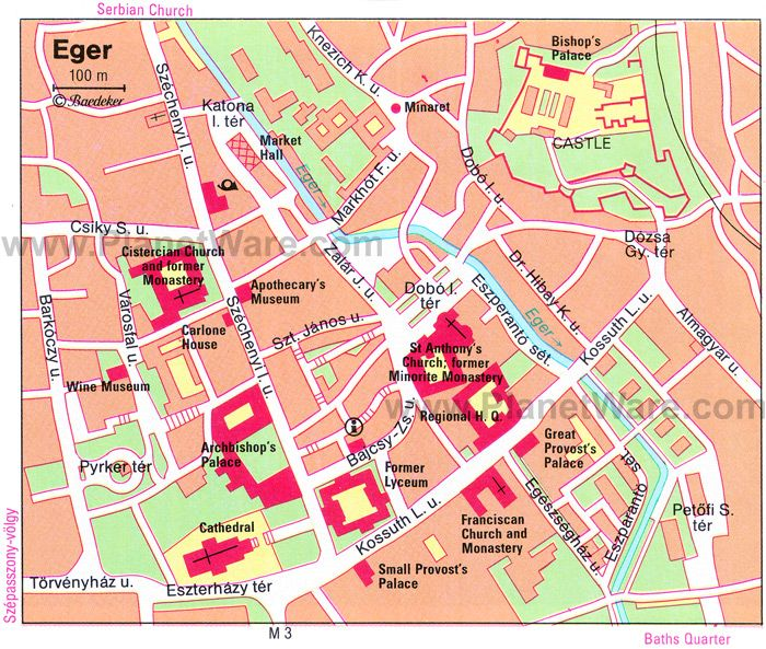 Eger Map Tourist Attractions My trip to Hungary 2007 Pinterest
