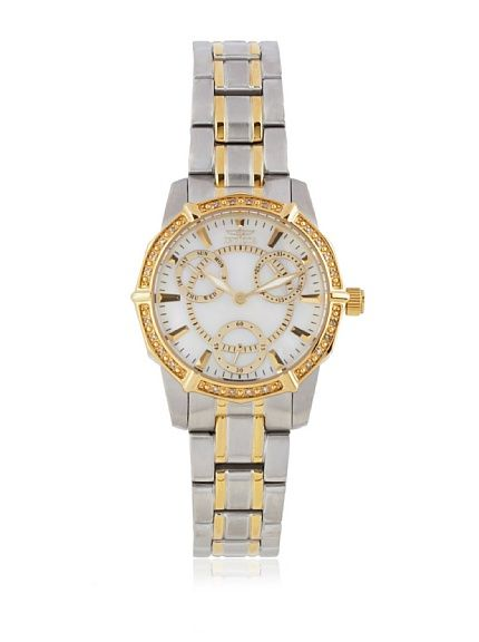 Invicta Women's 1778 Wildflower Mother-Of-Pearl Two-Tone Stainless Steel Watch at MYHABIT