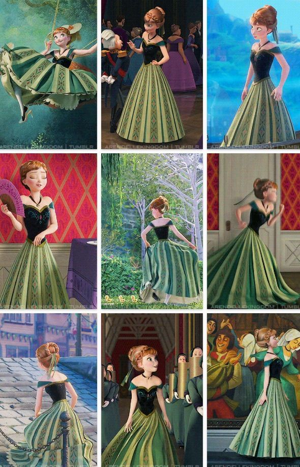 Frozen anna dress colors
