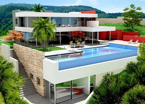 Amazing modern house. It WiLL be my house one day!