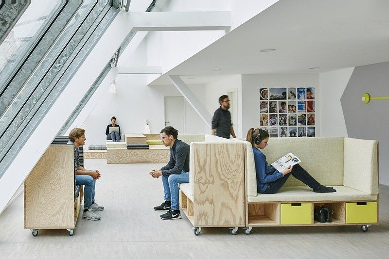 New Offices Of Non Profit Organization Wfp Innovation Accelerator Inpuls Innovative Office Office Interior Design Flexible Furniture