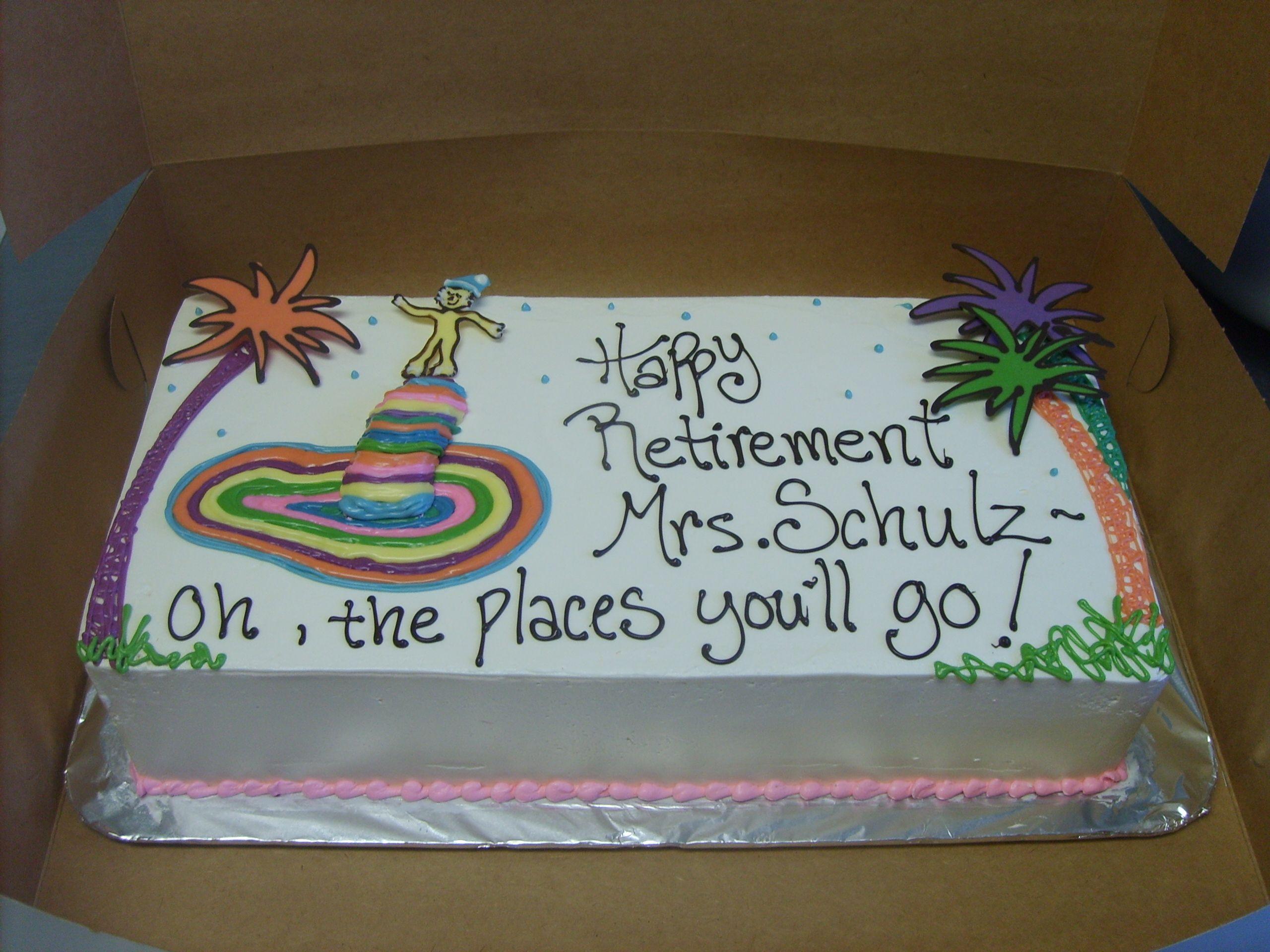 Dr Seuss Retirement Cake